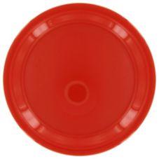 """Gessner™ DW90R1P R Melamine 9"""" Red Round Plate - Dozen"""