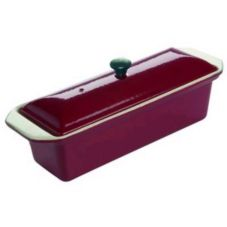 Matfer Bourgeat 071074 Le Chasseur Red Rectangular 1-1/4 Qt. Terrine