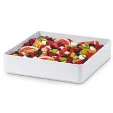 "G.E.T.® ML-85-W Milano™ 12"" White Square Bowl - 6 / CS"