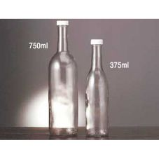 E Bottle 1149-375ML Glass Bottle With Fine Ribbed Cap