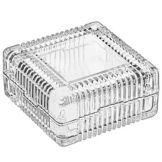 "Libbey® 75186 Square 3-7/8"" Glass Jewelry Box - 12 / CS"