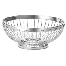 "Tablecraft 6177 Regent 7"" x 2-3/4"" Stainless Oval Basket"