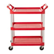Rubbermaid® Red Economy Utility Cart