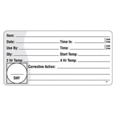 "DayMark® ReMark™ 2"" x 4"" HACCP Label"