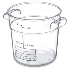 Carlisle® 1076107 StorPlus™ 1 Qt. Clear Storage Container