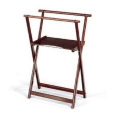 Forbes Industries Mahogany Tray Stand w/ Shelf