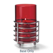 Hollowick® DRB6 Deco-Ring™ Polished Chrome Candle Base