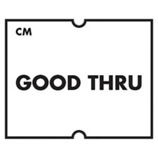 "DayMark 113330 CoolMark™ ""Good Thru"" Labels - 750 / RL"