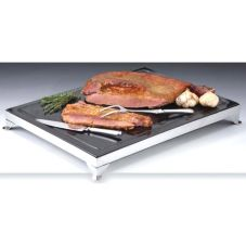 "D.W. Haber 724MGBGSS S/S and Black Granite 24 x 18"" Carving Board"