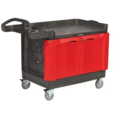 Rubbermaid® FG453288BLA Trademaster® Cart w/2 Door Cabinet