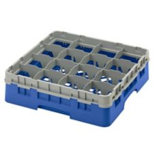 "Cambro® 16S418168 Camrack Blue 16 Comp 4-1/2"" Full Size Glass Rack"