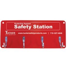 Tucker Safety 99954 Wall Mount 4-Hook Safety Equipment Station