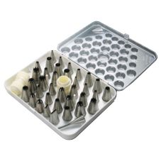 Paderno World Cuisine S/S 38-Piece Pastry Tip Set