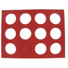 San Jamar CB1451912LSTRRD Red Cutting Board for Sliders / Mini Burgers