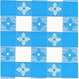 Marko® Classic™ Series Blue Check Tablecloth