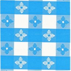 "Marko 5151-002 Classic™ Series 15 YD x 52"" Blue Check Tablecloth"