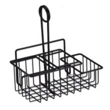 G.E.T.® 4-31698 Black 3-Compartment Caddy with Menu Holder