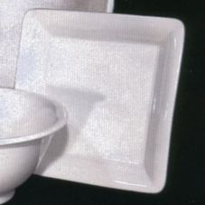 "Desantis Designs 012H-0000 White 10"" Square Platter - 3 / CS"