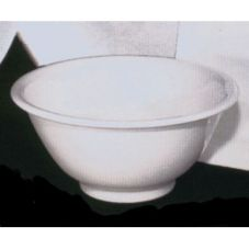 "Desantis Designs 601F-0000 White 13-1/2"" x 2-1/2"" Salad Bowl - 3 / CS"