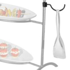 Gourmet Display® Black Tong Holder With EZ Clip Attachment