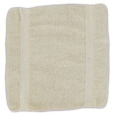 "Thomaston Mills 910231-101 Beige 13 x 13"" Wash Towel - Dozen"