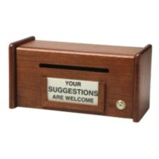 D.L.M. Manufacturers WSB100 Oak Wood Suggestion Box