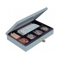 "Low Profile Cash Box w/ Keyed Lock, 11-1/4""x7-1/2""x2"""