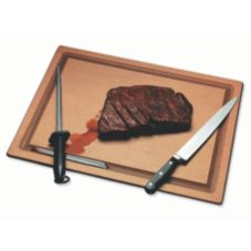 "San Jamar TC121812GV Tuff-Cut 12 x 18"" Cutting Board with Groove"