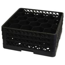 Traex® TR11GGG-06 Black 20 Compartment Glass Rack with 3 Extenders