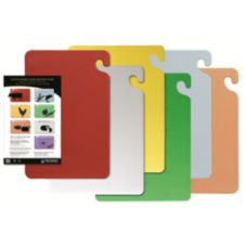 San Jamar CB1218KC Cut-N-Carry 12 x 18 In. Cutting Board Set - 1 / ST
