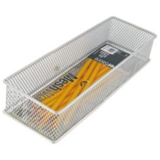 "Design Ideas 120919 DrawerStore 3"" x 9"" Silver Mesh Basket"