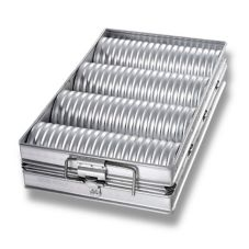 Chicago Metallic 48514 Glazed 4-Loaf Crimped Crust Bread Pan