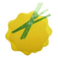Regency Wraps 250-Yellow Lemon Wrap w/ Green Tie