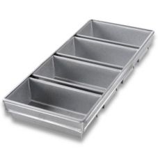 "Chicago Metallic Bakeware Steel 4-Strap 9 x 4"" Bread Pan w/ Glaze"