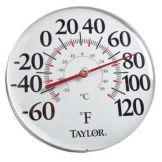 Taylor Precision 49562J 60 - 120°F Wall Mount Dial Thermometer