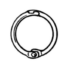 "FFR-DSI 1602487126 MSR Chrome Plated Metal 1.5"" Hinged Snap Ring"