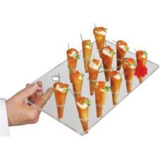 J.B. Prince R505 Clear Plastic 15-Cone Serving Tray