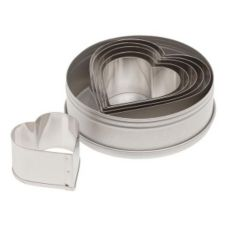 Ateco 7804 Plain Edge 6-Piece Heart Shaped Cutter Set