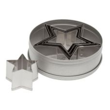 Ateco 7805 Plain Edge 6-Piece Star Shaped Cutter Set
