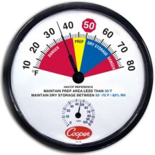 Cooper Atkins 10-80F Dry Storage Thermometer w/ Humidity Scale