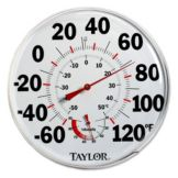Taylor 497J Humiguide Dial Thermometer w/ Relative Humidity Scale