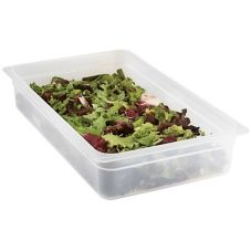 "Cambro 14PP190 Full-Size 4"" Deep Translucent Food Pan - 6 / CS"