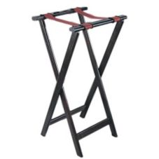 "Adcraft® WTS-32 33-1/4"" Mahogany Finish Hardwood Tray Stand"