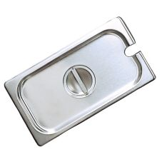 Adcraft® Third Size Stainless Steel Steam Table Slotted Pan Cover