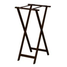 "Forbes Industries 6861-WA Solid Oak 18"" x 16"" x 36"" Tray Stand"