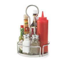 "Tablecraft Versa Rack™ 7-4/5"" Round S/S Condiment Rack"