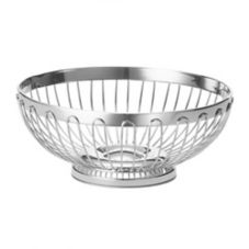 "TableCraft 6175 Regent 10"" x 3-3/4"" Stainless Oval Basket"