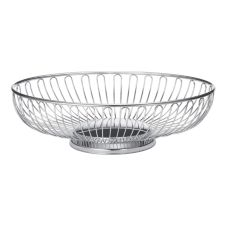 "TableCraft 4174 Chalet Chrome Plated 8-1/4"" x 6-1/4"" Basket"