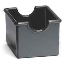 TableCraft 56B Black Plastic Sugar Packet Holder - Dozen