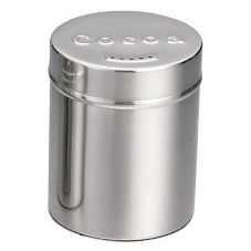 TableCraft 755 6 Oz. Stainless Steel Cocoa Shaker with Storage Cap